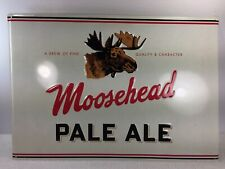 """Moosehead Tin Beer Sign Embossed Metal  Pale Ale Man Cave 20"""" x 14"""" A Brew of"""