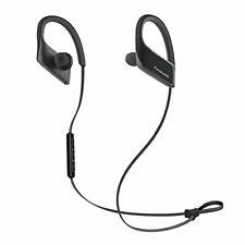 Panasonic WINGS Wireless Bluetooth Sport Clips w/ Mic + Controller-Black