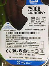 Western Digital 750 GB WD 7500 BPVX - 00jc3t0 DCM: sbotjbk | 05nov2014 DISCOTECA RIGIDO