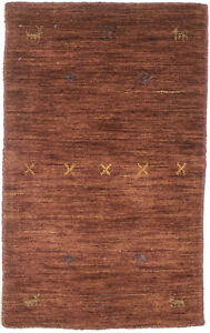 Tribal Rusty Red Small Entryway 2X3 Modern Rug Oriental Hand-Loomed Decor Carpet