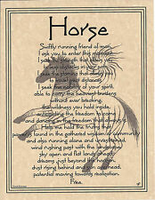 HORSE PRAYER Shaman Animal Spirit Poster Page Art NAT AM. Celtic Wicca