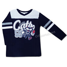 AFL Geelong Cats Toddler Script Long Sleeve T Shirt - Size 2 yrs