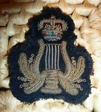 British Army Military Bandsman Musicians Wire Bullion Cloth Badge