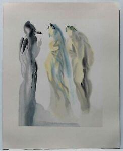 Salvador Dali - Farbholzschnitt auf BFK RIVES. Comédie: Ciel de Vénus 33x26,2 cm