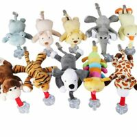 Kid Baby Infant Pacifier Holder Hanging Removable Plush Animal Doll Toy Soother