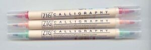 Zig, Kuretake Memory System Double Ended Calligraphy Pen - 11 Colour Choices