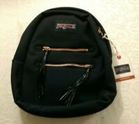 NWT JanSport Half Pint FX 2 Small Backpack in Black Purse Student College Bag