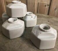 Lot de 5 Encrier Porcelaine de Limoges Ancien Art Deco Ulim Ink Pot