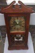 """London Clock Company LC0589 Walnut Wood Pendulum Wall Clock 25"""" X 11"""""""