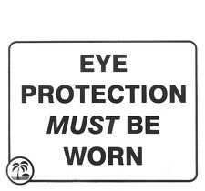 """""""Eye Protection Must Be Worn"""" Tanning Salon Acrylic Sign, 6.5& 00004000 #034; x 7"""""""