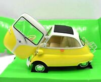 Miniature voiture auto 1:18 WELLY BMW Isetta 250 diecast Modélisme Static Jaune