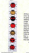A Ladybug Sampler - beautiful applique quilt PATTERN - Charley Harper design