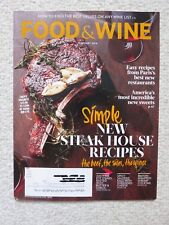 Food & Wine Magazine February 2014 Simple New Steak House Recipes Beef Sides