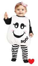 Childs Baby Boo Ghost Halloween Fancy Dress Costume - Upto 24 Months