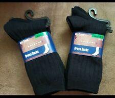 Arizona Boys Dress Socks 6 pair Black Nwt