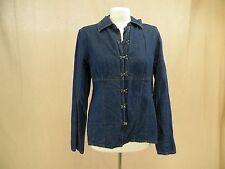 Forenza Blue Jean Jacket Cute Clasp Women's Size 14 100% Cotton