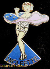 WOLFETTE NOSE ART WW2 HAT PIN UP  GIFT WOW