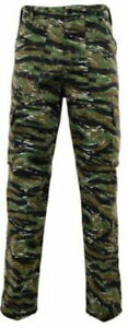 Woodland Tiger Camo Combat Trousers Military Work Camouflage Hunting Fishing