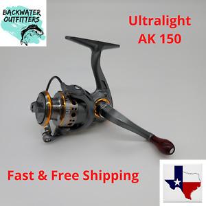 Ultralight AK150 Spinning Reel Metal Spool 5.2:1 Gear Ratio Trout, Bass, Perch