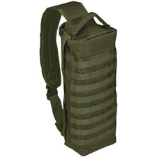 Mil-Tec Sling Bag Tanker Army Combat Patrol Military MOLLE Padded Backpack Olive