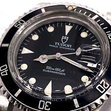 Tudor 79090 Prince Oysterdate Submariner Data Quadrante Nero Opaco in Acciaio Inox
