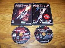 RESIDENT EVIL OUTBREAK FILE 1 & 2 WITH CASES PS2 GAMES PLAYSTATION 2