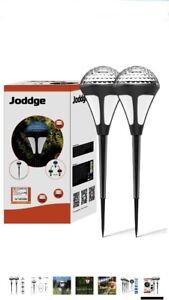 Joddge LED Outdoor Solar Sensor Lights Garden Path Landscape Light Security