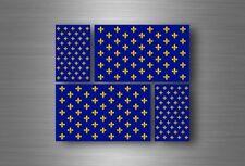 4x sticker flag car french king decal bumper vinyl adhesive fleur de lis france
