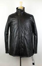 NWT JULIUS 7 Men's Black Lamb Skin Leather Zip-Up Jacket Size 4/L $2470
