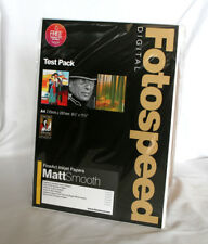 Fotospeed Fine Art Matt Smooth Test Pack A4 18 Sheets