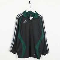 Vintage ADIDAS Small Logo 1/4 Zip Track Top Jacket Dark Grey | XS
