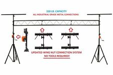15' Crank Up DJ Light Stand Heavy Duty Truss LED Lighting System 11.6' Height
