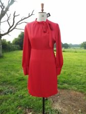 Gently Tailored M&S COLLECTION Red Long Sleeve Dress Size 16 Reg BNWT RRP £49.50