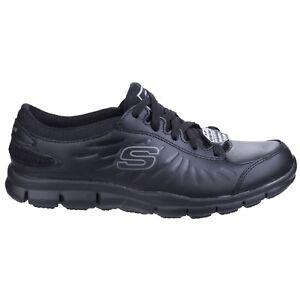 Skechers Eldred SR Work Womens Trainers Memory Foam Slip Resistant Leather Shoes