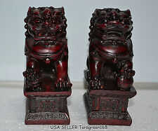 Feng Shui A Pairs Foo Fu Dogs Of Chinese Guardian Lion Dog Protection Home