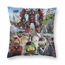 Ninjago Comics Cartoon Print Velvet Cushion Cover Square Sofa Throw Pillow Case
