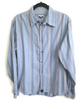 """Paul Smith Large 40"""" Blue Striped Mens Long Sleeve Shirt Cotton Smart Casual"""
