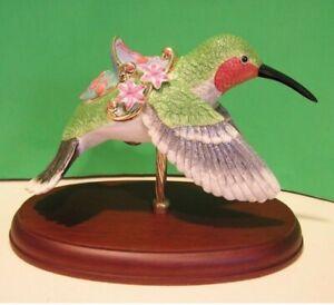 LENOX HUMMINGBIRD CAROUSEL sculpture NEW in BOX with COA Bird Horse