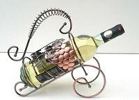 Metal Estante Botella Vino, sujeta-botellas, Sobre Encimera Metal Soporte
