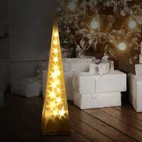HOMCOM Battery Powered Pyramid Light 16 LED Lamp Christmas Home Decor Holiday