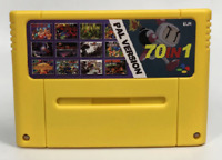 70 in 1 Video Game for Snes 16 Bit - EU PAL Version Battery Save Super famicom
