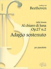 Carisch Beethoven L.V. - Adagio chiaro Di Luna-piano clásico Hojas Piano, V