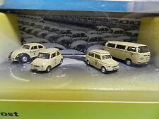 SCHUCO SONDERSET POST ÖSTERREICH VW KÄFER, PUCH 500, PUCH 700, VW BUS T2 1:87