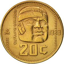 1983 MEXICO 20 CENTAVOS - AU - OLMEC CULTURE - FREE SHIP - Mexico Bin #4