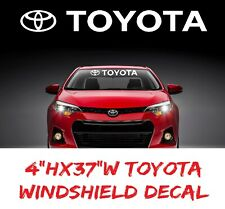 "TOYOTA Windshield Banner Decal Vinyl Sticker TRD Corolla Camry Tundra Celica 37"""