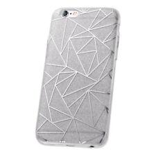 ^ Fashion Glitter Geometric Tasche Cover Schutzhülle Schale LG K10 2017 Silber