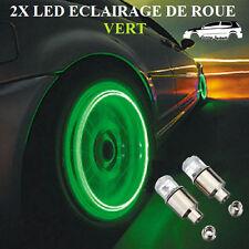 2x Ampoules Led Vert Eclairage De Roue Jantes Tuning Renault, Peugeot, Citroen