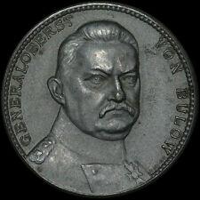 1. WELTKRIEG: Zink-Medaille 1914, Mayer & Wilhelm. GENERALOBERST VON BÜLOW.