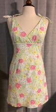 Womens LILLY PULITZER The Good Life Swiss Dot Floral Flower Dress ~ Size 6 (H40)