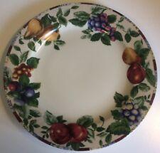 "Sakura Sonoma Excell Stoneware Platter Chop Plate Oneida 12 1/2"" Fruit Design"